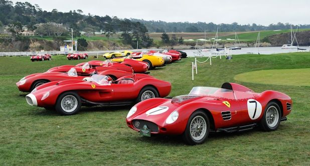 Pebble Beach Ferrari 250 Testa Rossa Class at Pebble Beach Concours d'Elegance 2014 d'Elegance 2014