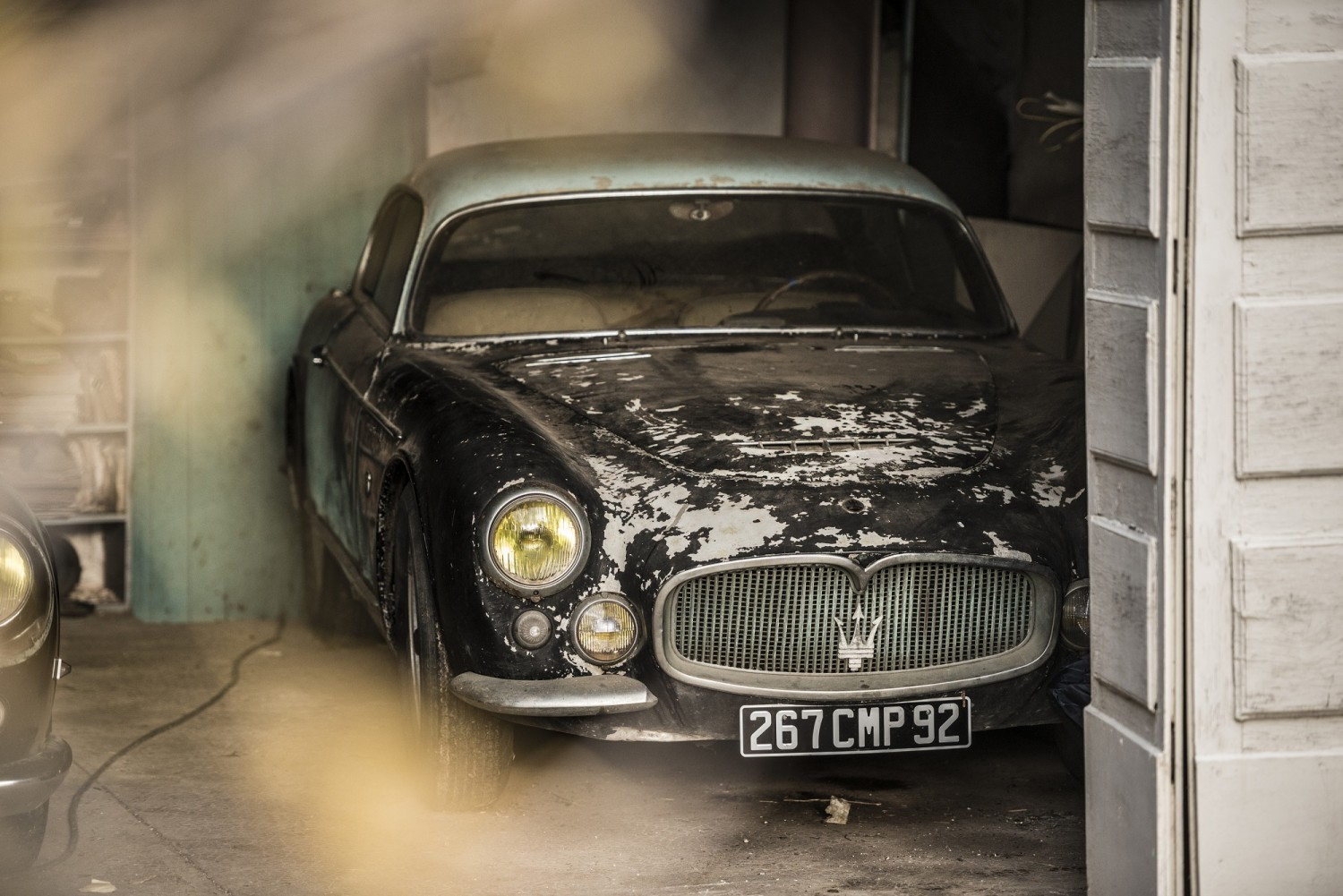 Maserati A6G Gran Sports de 1956 dans son garage